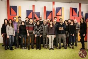 Il gruppo al completo del primo Live alla Ginzburg di Torino